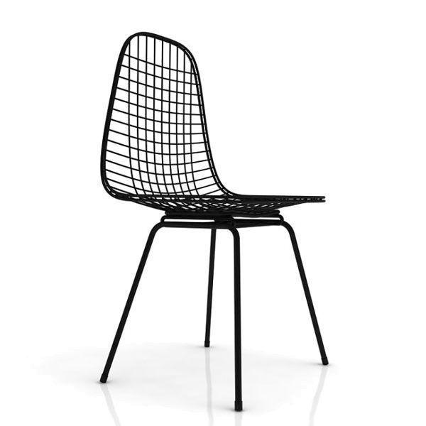Vitra eames wire chair dkx stoel zwart flinders verzendt for Eames stoel zwart