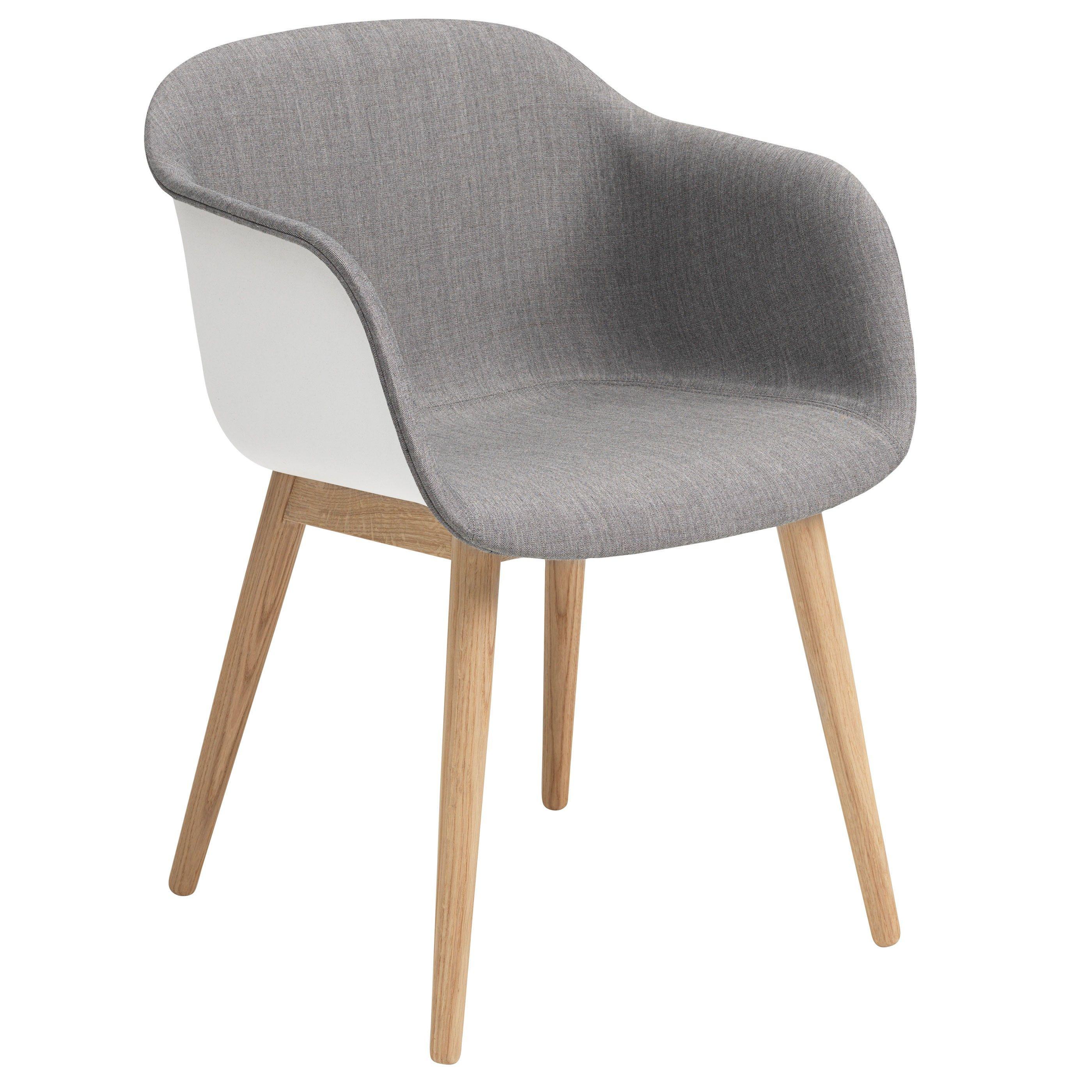 Muuto Fiber Wood Front Upholstery Stoel Flinders