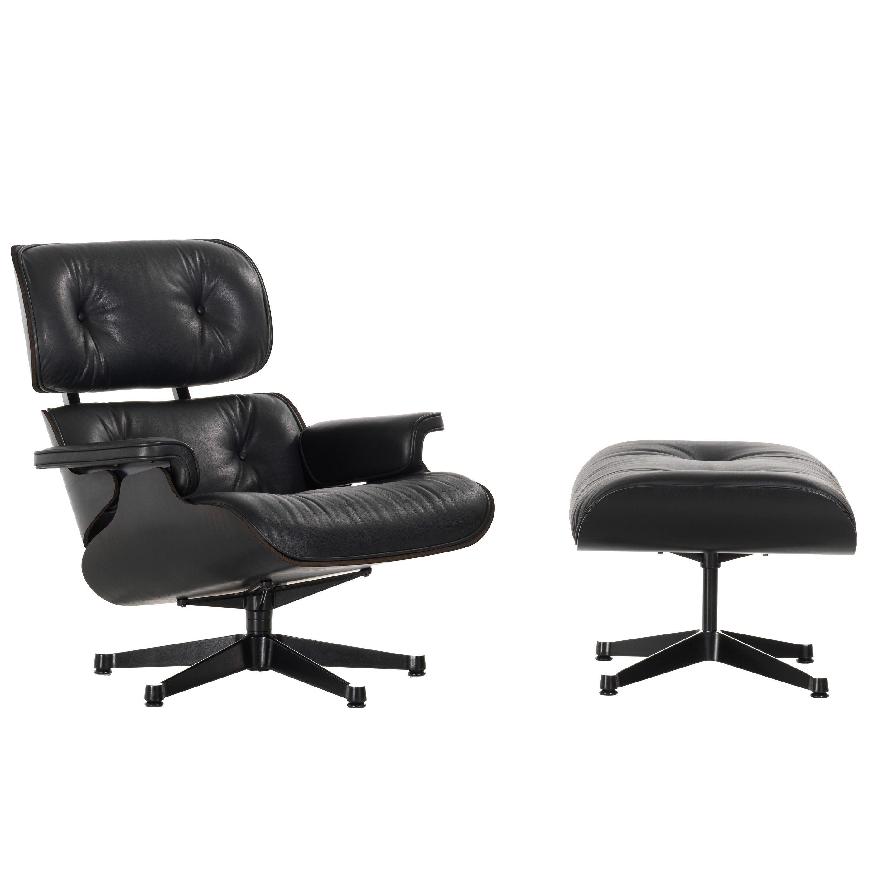 Vitra eames lounge chair met ottoman fauteuil (nieuwe afmetingen ...