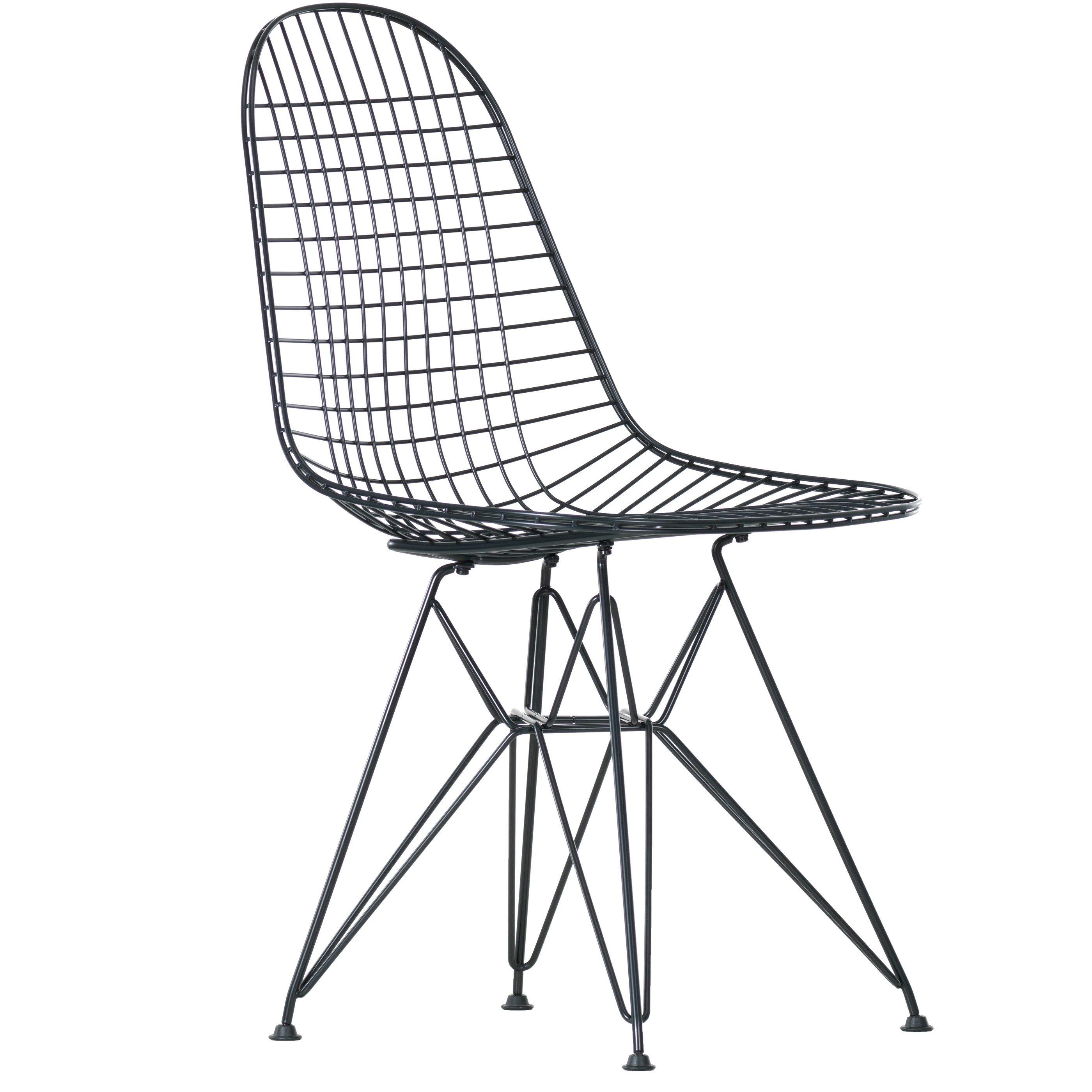 Vitra eames wire chair dkr stoel zwart flinders verzendt for Eames stoel zwart