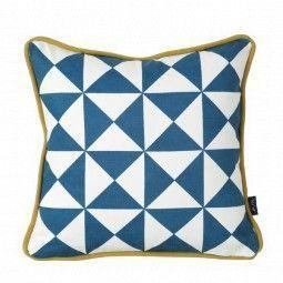 Ferm Living Little Geometry kussen blauw 30x30