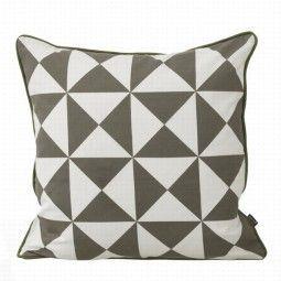 Ferm Living Large Geometry kussen grijs 50x50