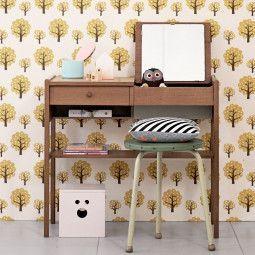 Ferm Living Dotty behang geel