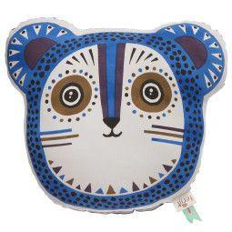 Ferm Living Billy Bear kussen blauw 36x32