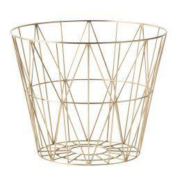 Ferm Living Wire Basket Brass opbergmand large