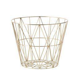 Ferm Living Wire Basket Brass opbergmand small