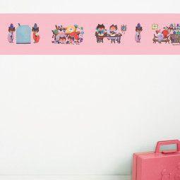 KEK Amsterdam Busy Bears behangrand roze