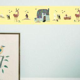 KEK Amsterdam Forest Animals behangrand geel