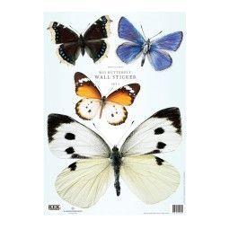KEK Amsterdam Butterfly set 3 muursticker