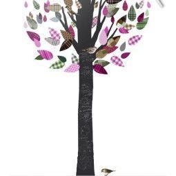 KEK Amsterdam Schoolbordboom 1 muursticker paars