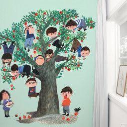 KEK Amsterdam Apple Tree groen behang