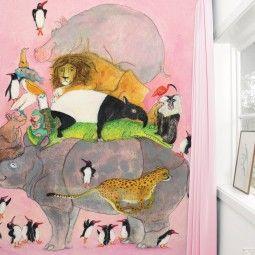 KEK Amsterdam Jumping Pinguins II behang