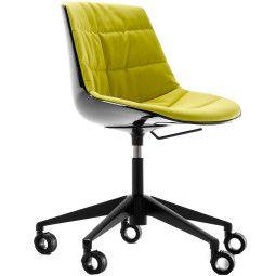 MDF Italia Flow Chair gestoffeerde bureaustoel