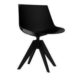 MDF Italia Flow Chair stoel met antraciet VN onderstel