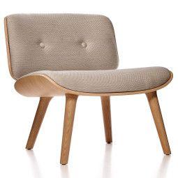 Moooi Nut fauteuil met white washed onderstel