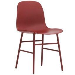 Normann Copenhagen Outlet - Form Chair stoel met stalen onderstel rood