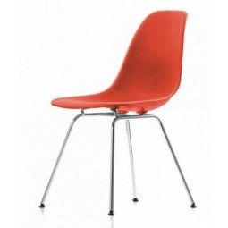 Vitra Showroommodel - DSX stoel, kuip rood, onderstel verchroomd