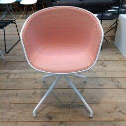 Hay Outlet - AAC20 stoel, onderstel wit, kuip wit, bekleding Hallingdal 515