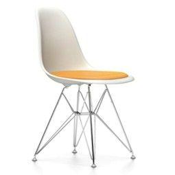 Vitra Eames DSR stoel met zitkussen (nieuwe afmetingen)