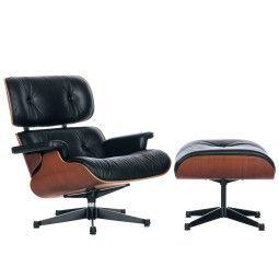 Vitra Eames Lounge chair met Ottoman fauteuil (nieuwe afmetingen) kersenhout